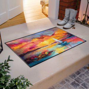 tapis-de-sol-personnalise-maison-entree-sunset-boat