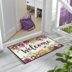 tapis-maison-personnalise-maison-entree-paillasson-welcome-blooming-milieu